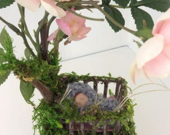 Fairy Crib ~ Blossom Fairy Crib with Baby Fairy Fairy by Olive*
