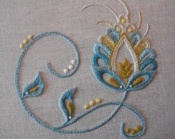 Spring Mixed Thread Crewelwork Embroidery Kit