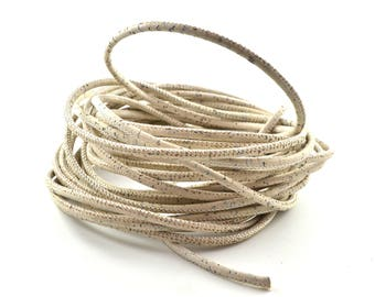 50 cm round 3 mm beige Cork cord