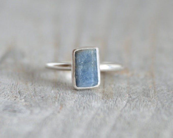 Raw Sapphire Engagement Ring, Raw Sapphire Ring 3.3ct, September Birthstone, Something Blue Wedding Gift