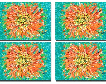 Orange Blossom Placemats, set of 4, FREE shipping!