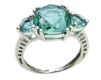 Incredible Sterling Silver Lab Created Green Purple Color Change Alexandrite Ring Sizes 4.75 - 10 ,  Ad925 The Silver Plaza