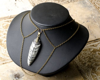 Ancient Fossil Necklace. One of a kind