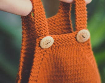 Little Orange Romper, Merino, cotton, baby, strample, body, babyknits, knitwear, kidswear, sheepwool, handmade