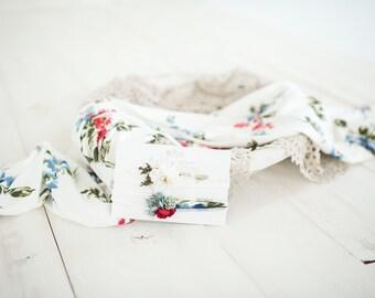 Newborn Floral Wrap Prop Set - Including 2 headbands