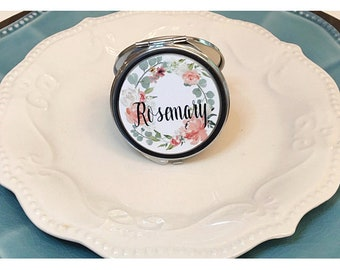 Flower Compact Mirror / Personalized Gift