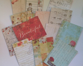 Bella Rouge Journaling Cards - Prima, 3x4, Set of 15, PL, Project Life, Cards, Stationary, Planners