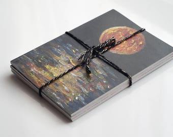 Lucky Dip, Set of 3 Notebooks, Moon Notebooks, A6 Notebook, Recycled Paper, Blank Notebook, Moon Art