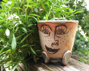 Small Handmade Ceramic Pot for Plants