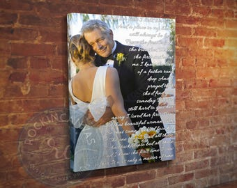 Father of the Bride Gift, Father Daughter Song, Daughter to Father Gift, Father Daughter Dance, Forever Your Little Girl, RockinCanvas