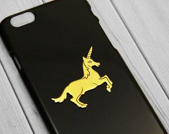 Unicorn iPhone 7 Case 24kt Gold iPhone 7 Plus Handmade iPhone 6s Case Unicorn iPhone 6s Mythical iPhone 6 Plus, iPhone 6s Plus Gift Idea