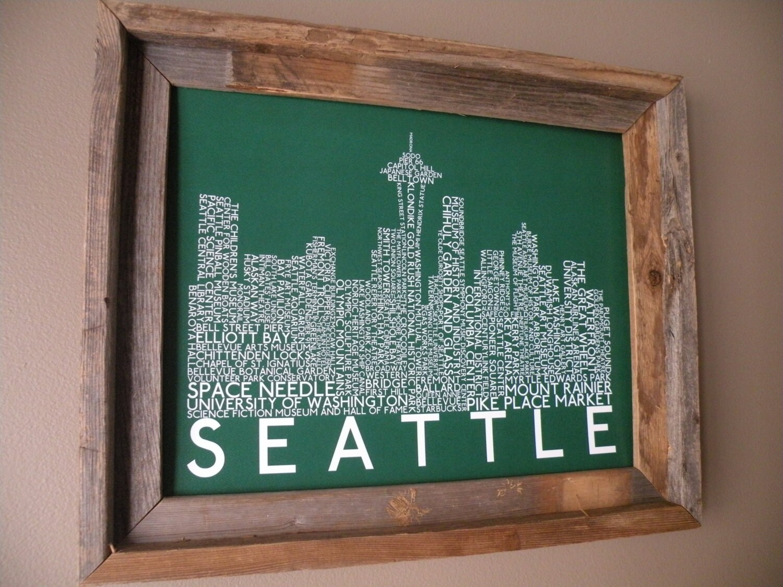 Skyline word art print green unframed zoom jeuxipadfo Choice Image
