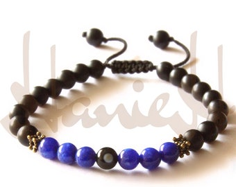 Black onyx bracelets for men and women