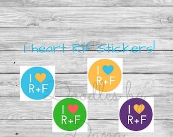 Rodan + Fields - I heart RF Stickers - Rodan and Fields - small round stickers