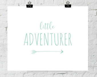 Adventure Print, Nursery Decor, Mint Green Decor, Nursery Wall Art, Wall Art, Digital Prints, Instant Download, ADOPTION FUNDRAISER