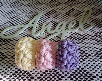 Hand crochet bracelet Handmade crochet bangle Womens bracelet Soft pink bracelet Gift for women bracelet Crochet jewelry Cotton bracelet