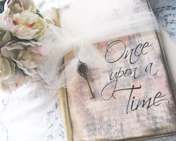 Fairy-Tale wedding Guest Book \'Once Upon a Time\' in