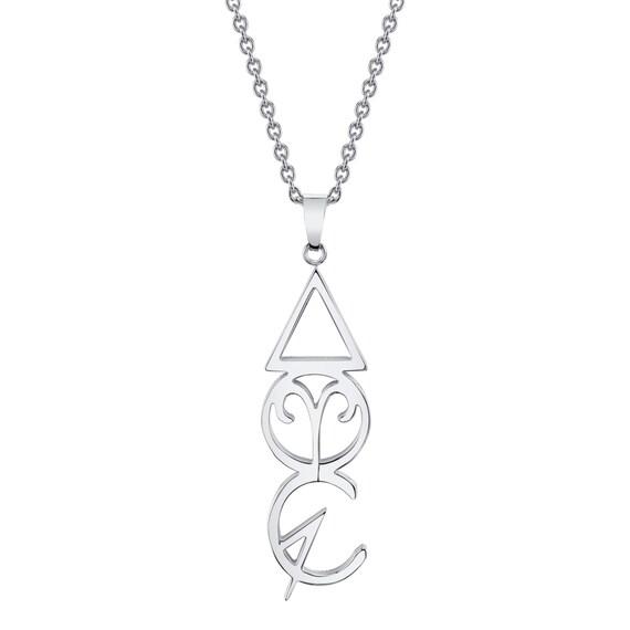 Aries Zodiac Necklace Fire Element Spring Alchemy Symbol