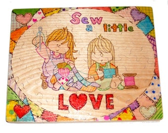 Sew a Little Love Wooden Jigsaw Puzzle