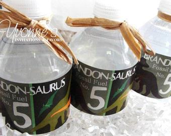 Dinosaur Birthday Water Bottle Wrappers - For Child-Boy Birthday