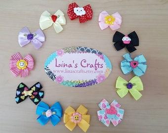 Baby Hair Bows, Baby Hair Clips, Newborn Hair Bows, Small Dog Bows, Puppy Bows, Infant Hair Bows, Baby Shower Gifts, Baby Hair Accessories