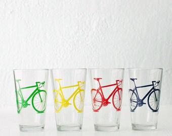 VITAL BICYCLE BARWARE screen printed bike pint glasses
