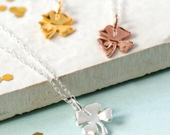Lucky Clover Necklace, Silver Clover Necklace, Gold Clover Necklace, RoseGold Clover Jewellery, Clover Jewelry, Lucky Necklace,Lucky Jewelry