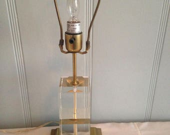 "YARD SALE BLOWOUT - Victoria Hagan "" Perfect Pieces "" Polished Crystal Table Lamp"