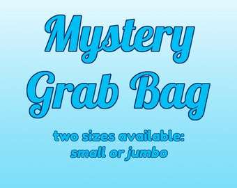 Mystery surprise grab bag! May contain pins, prints, charms, stickers