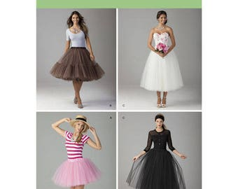 Simplicity 1427 Misses Tulle Skirt In Three Lengths Sewing Patterns