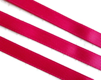 "Azeala Pink Grosgrain Ribbon. 3/8"" Width. Narrow Grosgrain Ribbon. 5 Yards. No. 187"