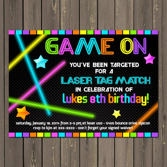 Crazy image intended for printable laser tag birthday invitations