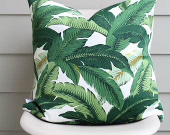 """22"""" x 22"""" Banana Leaf Pillow Cover - Palm Print - Swaying Palms - Tommy Bahama Fabric - COVER ONLY"""