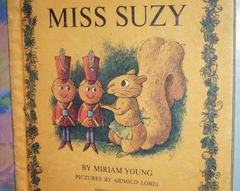 Miss Suzy by Miriam Lobel, Vintage Childrens Book, Hardcover Copy, Adorable Squirrel, 1964, Rare Childrens Book