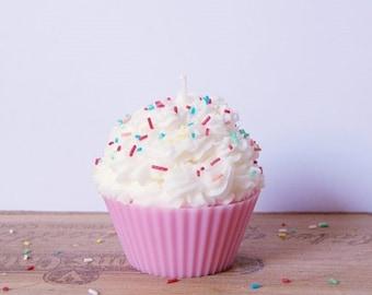 Pink Cupcake candle