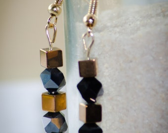 Champagne Nights- Dangle Earrings