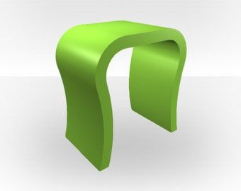 Apple Green Gloss Bedside Table - Curved
