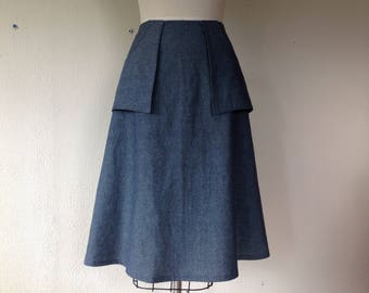 Colleen A-line skirt- Chambray- Sz XS/S