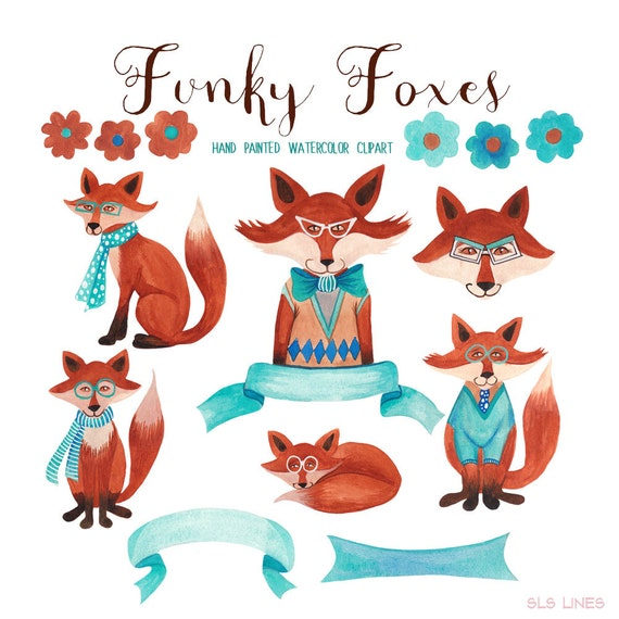 fox watercolor clipart trendy foxes graphics for commercial use rh etsystudio com free vector clipart for commercial use digital clipart for commercial use