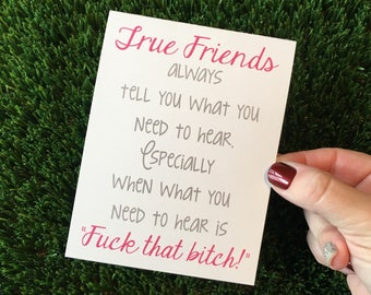 True Friendship Card - Funny Card for Friend - Funny card for best friend