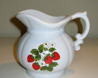 Vintage McCoy Strawberry Country Pitcher