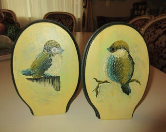 HAND PAINTED BIRD Decor