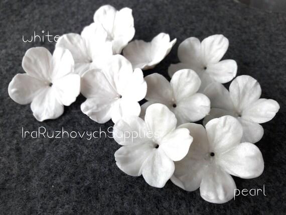 10 pcs big five petal flower cherry polymer clay flowers mightylinksfo