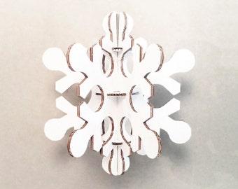 White cardboard snowflake, Medium size christmas party decoration, Christmas Decor, Christmas Home Decor, Christmas Decor Ideas