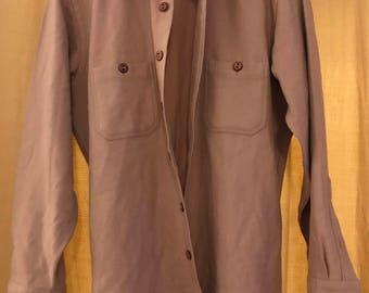 Vintage Bloomingdales Wool Shirt-Coat (Medium)