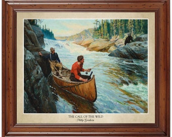 The Call Of Wild By Philip Goodwin 16x20 Print Displaying Artists Name And Title Painting
