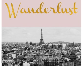 French Photograph - Paris Photography - Fine Art Photograph - Typography Print - Wanderlust - Pink Art - Black and White Print - Paris Print