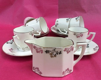 Vintage French Art Deco TLB Limoges coffee set