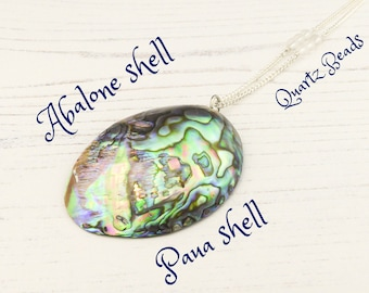 Boho Beach Necklace, Beach Necklace, Abalone Shell Necklace, Paua Shell Necklace, Abalone Jewelry, April Birthstone, Gift For A Friend.