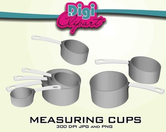 Measuring Cups Baking Clip Art Clipart - INSTANT DOWNLOAD